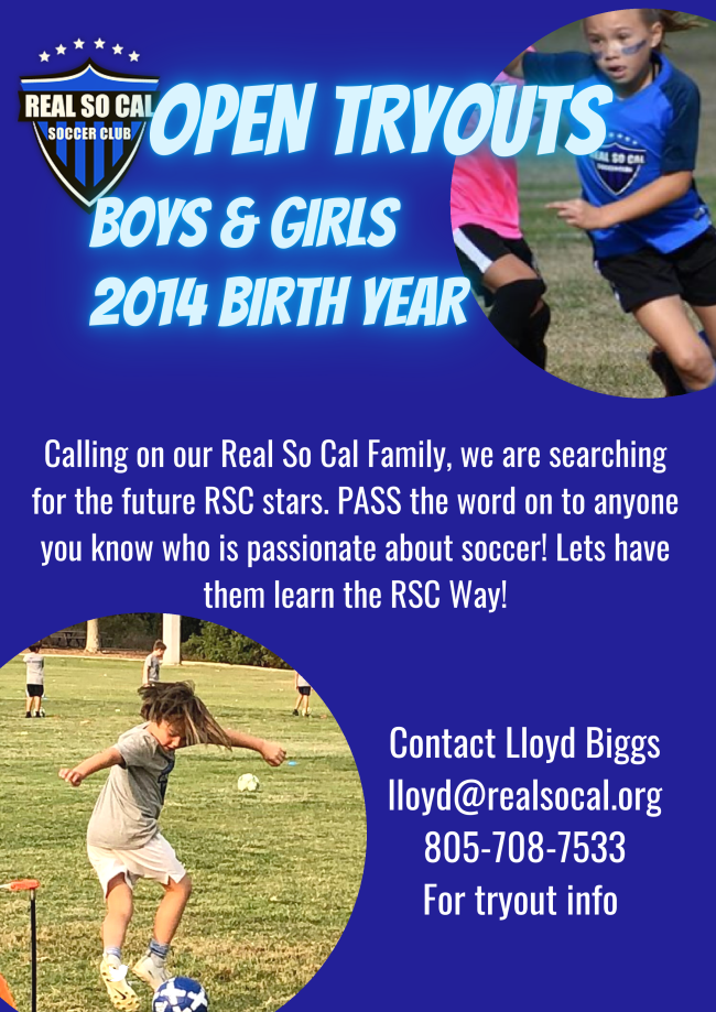 Real So Cal 2014 Tryouts