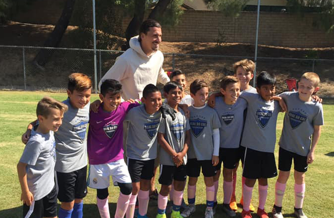 Zlatan hanging out with our B08 NPL boys after their match today!